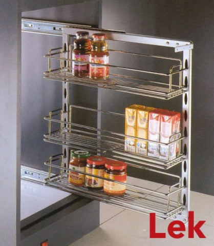 Side Mounted Pull Out Wire Rack