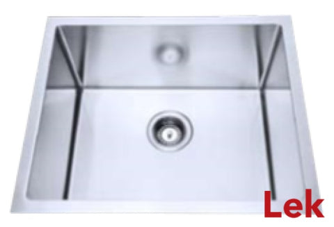 S/Steel Under/Over Mt Single Bowl Sink 440 x 440 x 230 mm