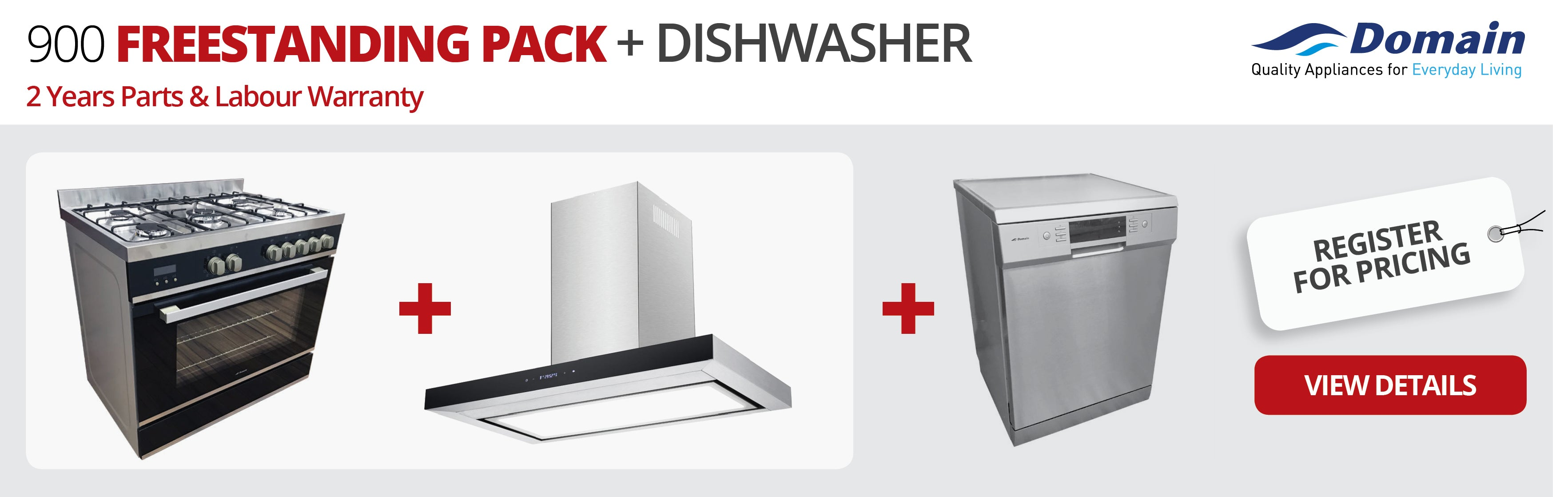 900 Freestanding Pack + Dishwasher