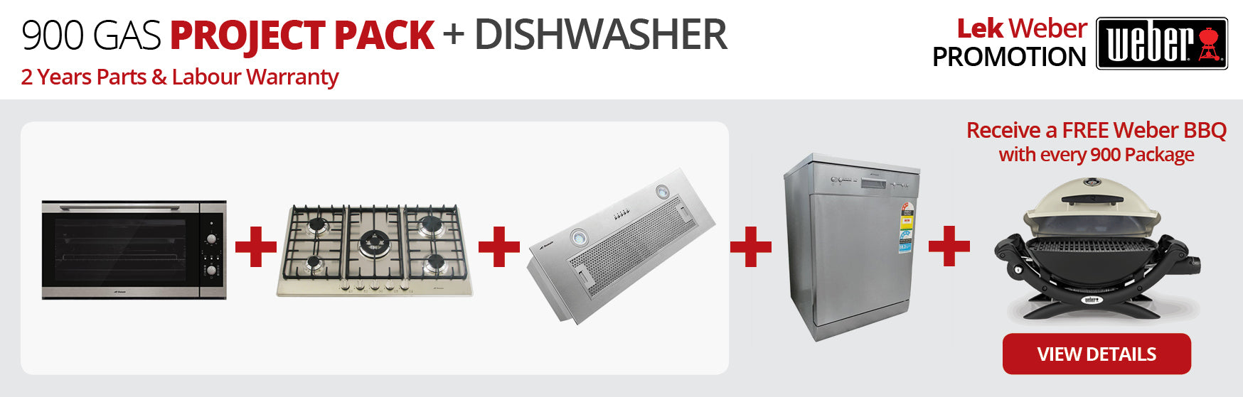 900 GAS Project Pack + Dishwasher