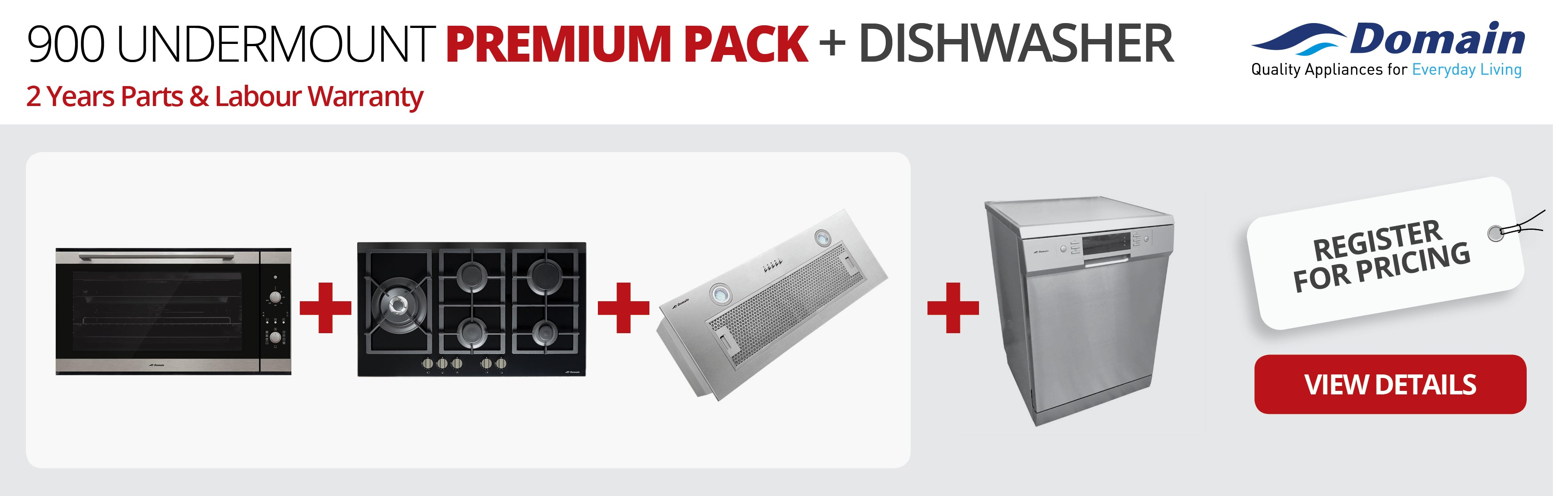 900 UNDERMOUNT Premium Pack + Dishwasher