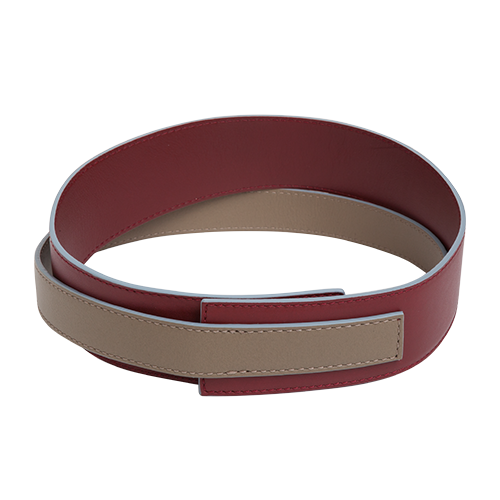 Easy To Love (Leather Shoulder Strap) - Maroon-Taupe