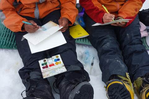 students glacier drawings