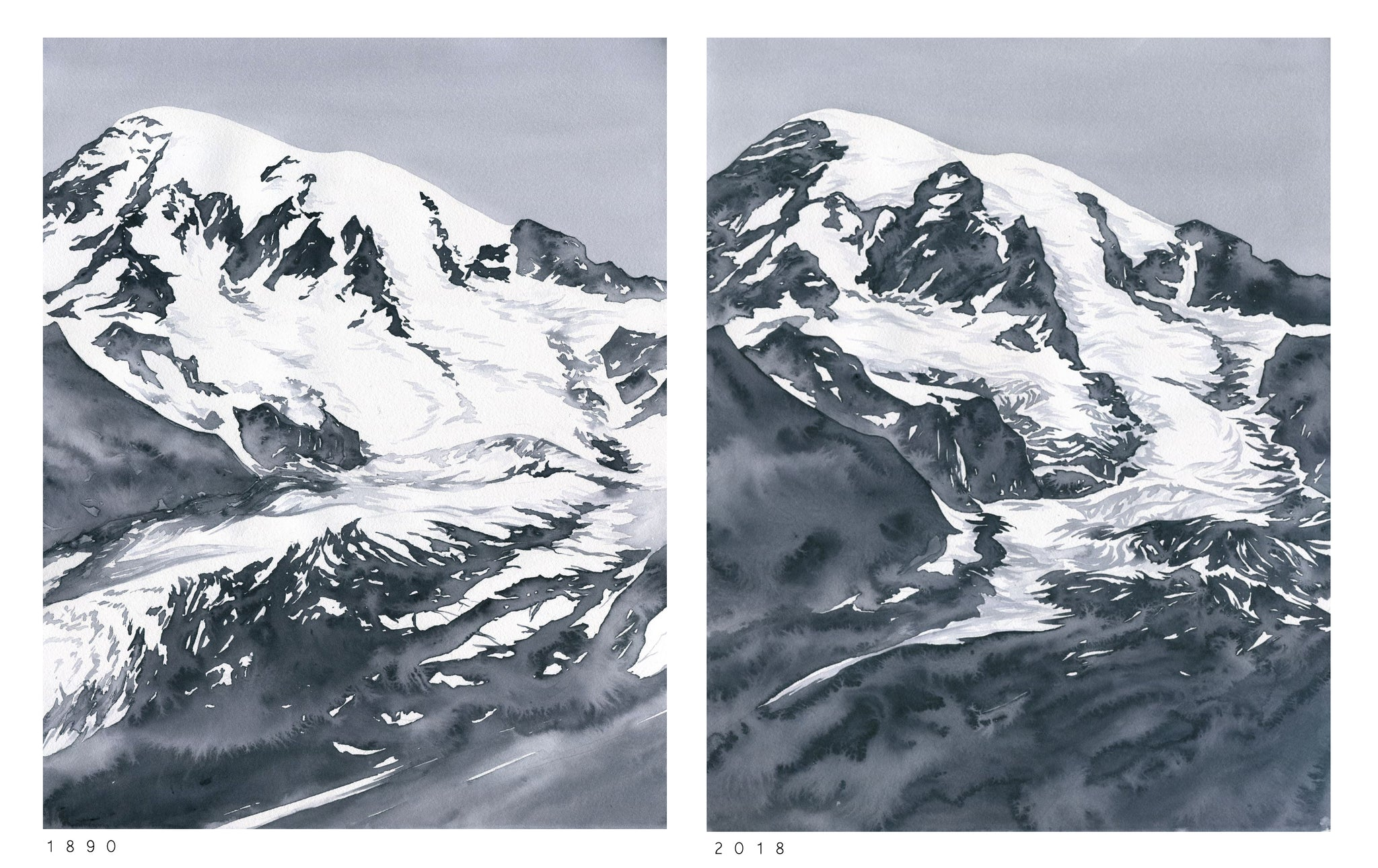 Nisqually Glacier comparison