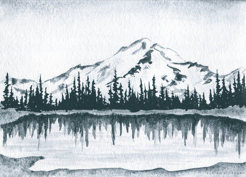 Mount Rainier Monochrome