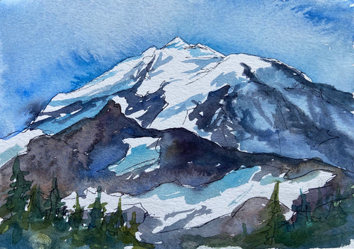 Mount Rainier Field Painting