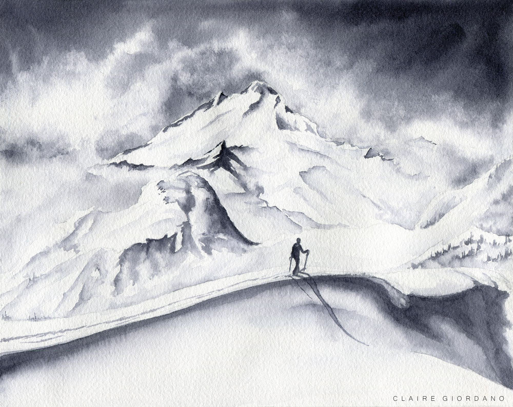 Mount Baker Backcountry Original (Watercolor)
