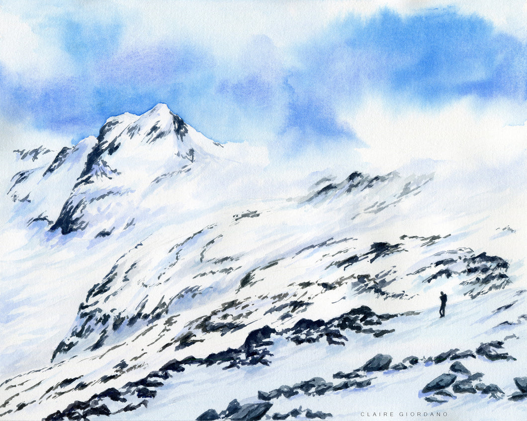 New Zealand High Country Original (Watercolor)