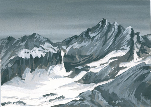 Gouache: North Cascades