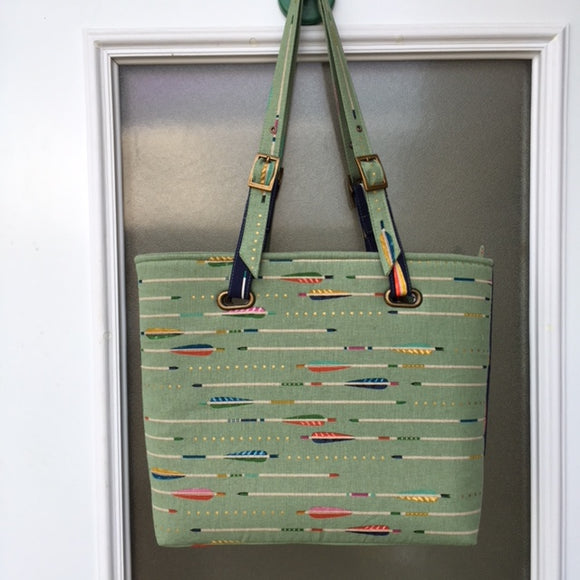 Arrows Tote Bag Handmade with Three Interior Pockets