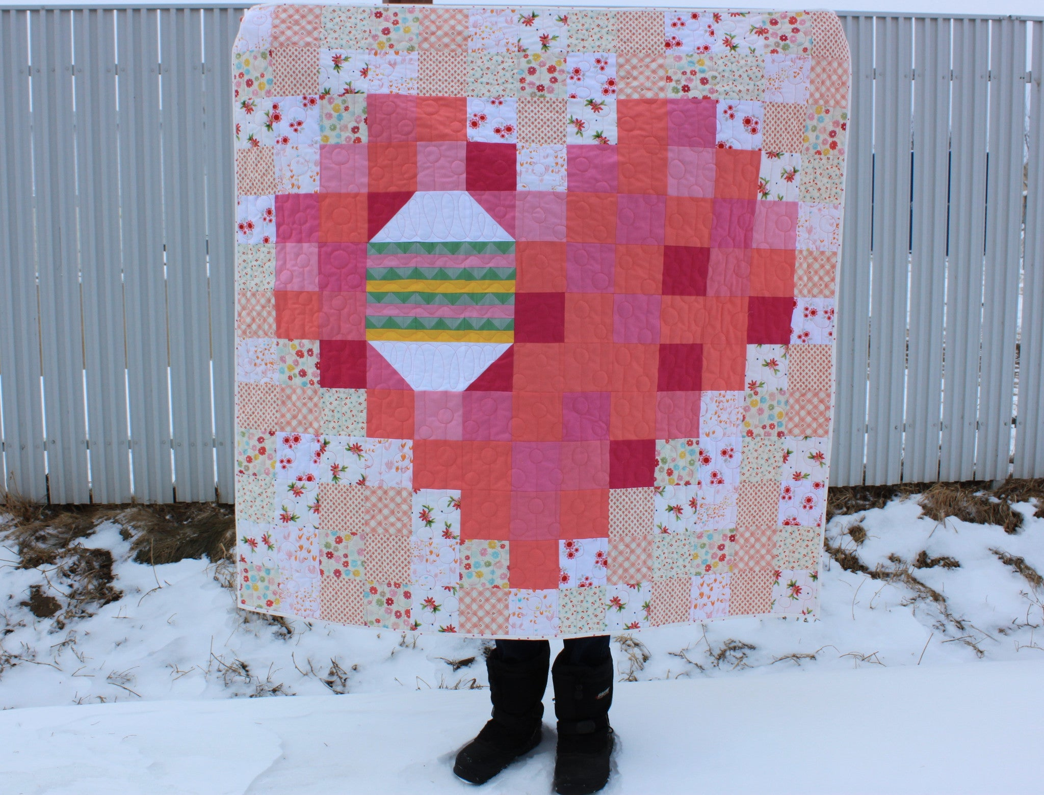 Easter Egg In A Pixel Heart Pdf Quilt Pattern Daydreams Of Quilts