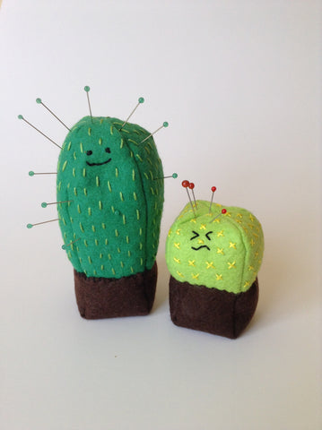 Cute Cactus Kawaii Cacti Wool Felt Pin Cushions