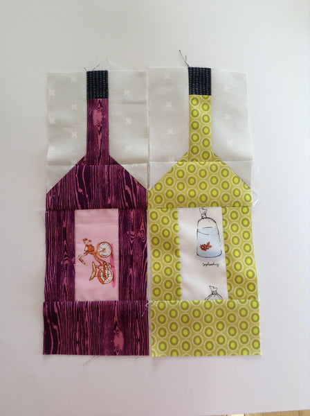 Wine Bottle Block PDF quilt block pattern