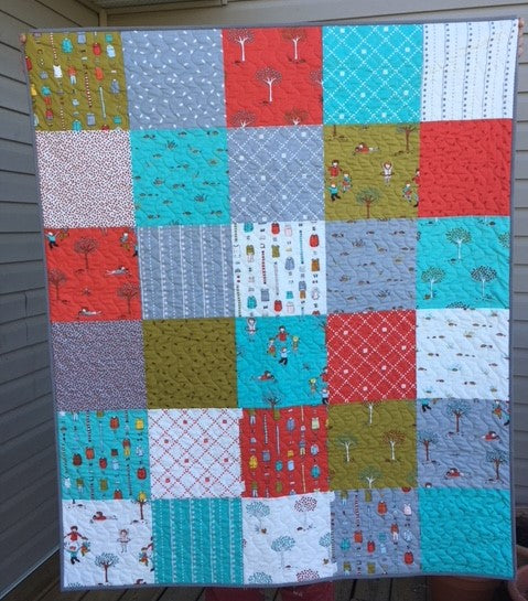 Child's Quilt Made with Little Apples Fabrics