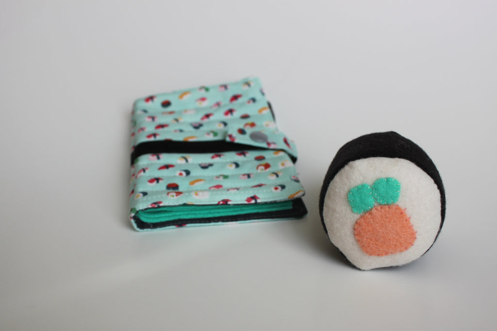 Sushi Sewing Kit Wool Felt Pincushion and Needle Book Free Pattern