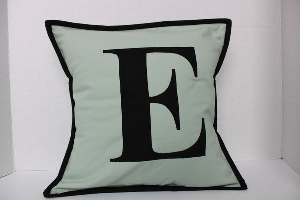 Personalized Initial Throw Pillow Cover Graphic Monogrammed Letter