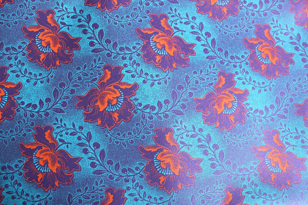 Hibiscus Purple Shweshwe Fabric fat quarter