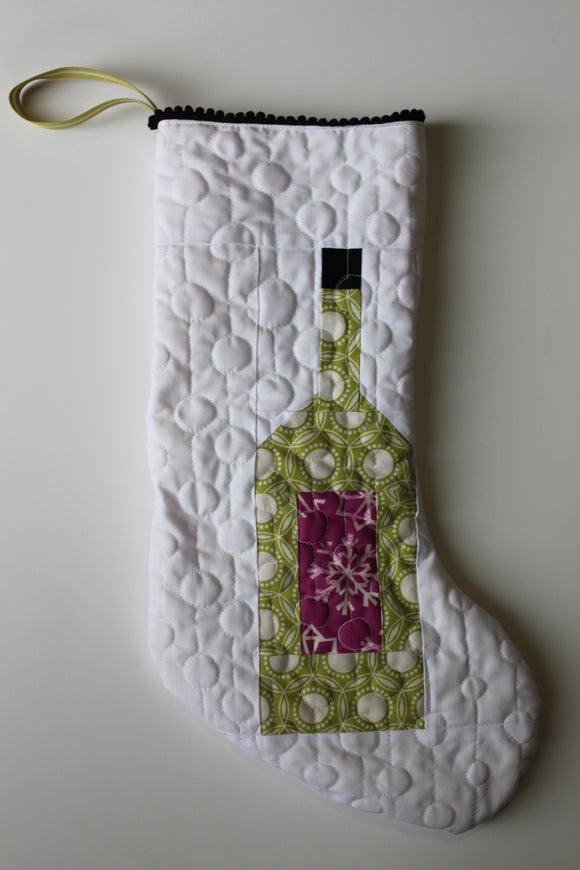 Wine Bottle Christmas stocking