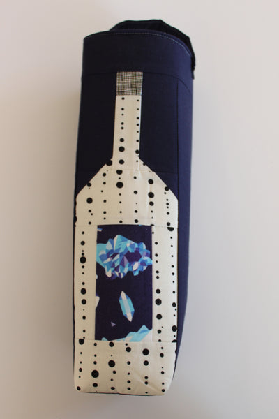 Wine Tote Bag with Gems on the Wine Label