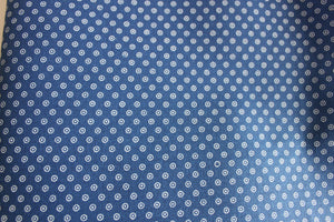 Indigo Fat Quarter Circled Dot Three Cats Shweshwe fabric printed in South Africa