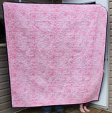 "April Showers on Nightfall Throw Quilt 60"" x 65"""