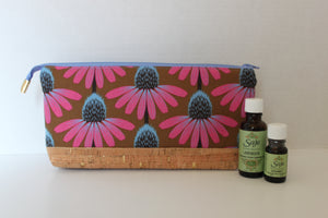Pink Cone Flower Perfect Essential Oil Zipper Pouch