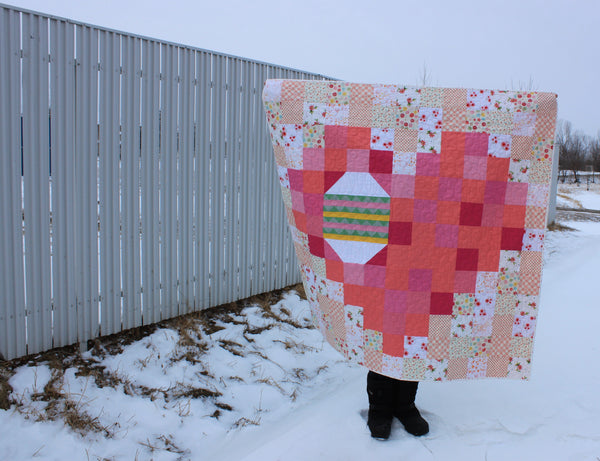 Easter Egg in a Pixel Heart PDF Quilt Pattern