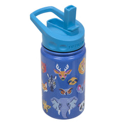 12oz Kids Bottle with Straw Cap - Animal | Fifty Fifty Bottles