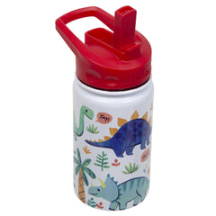 12oz Kids Bottle with Straw Cap - Dino | Fifty Fifty Bottles