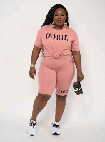 Over It Biker Short Set