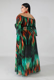 Water Fall Maxi Dress