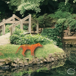 What Every Garden Needs...A Tassie Tiger Metal Work by Moby