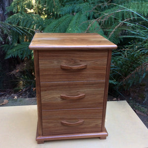 Tasmanian Furniture ~ Bedside Drawers in Tasmanian Blackwood - Aspect Design Tasmanian Gifts Gallery