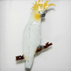Copper Art Brooch ~ Cockatoo - Aspect Design Tasmanian Gifts Gallery