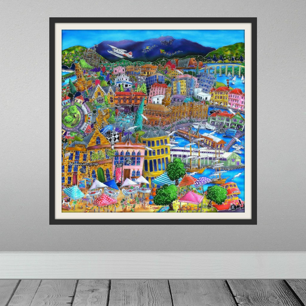 Esther Shohet Art Print 1~ 'Happy, Happy Hobart' - Aspect Design Tasmanian Gifts Gallery