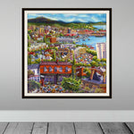 Esther Shohet Art Print 1 ~ 'Hobart - It's a Wonderful Life' - Aspect Design Tasmanian Gifts Gallery