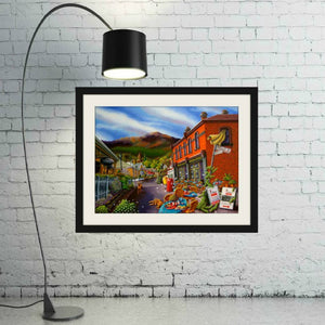 Esther Shohet Art Print 2 ~ 'On the Corner (of Hampden & Kelly)' - Aspect Design Tasmanian Gifts Gallery