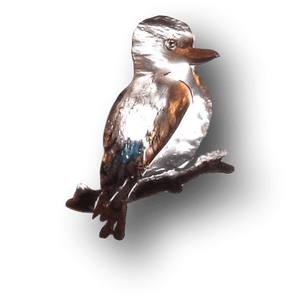 Copper Art Brooch ~ Kookaburra - Aspect Design Tasmanian Gifts Gallery