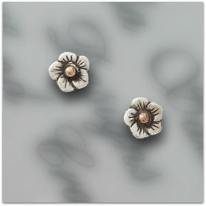 Lynda Salmon Collection II ~ Small Flower Earrings - Aspect Design Tasmanian Gifts Gallery