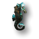 Copper Art Brooch ~ Seahorse - Aspect Design Tasmanian Gifts Gallery