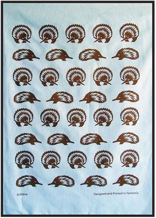 Tea Towel ~ Echidna - Aspect Design Tasmanian Gifts Gallery