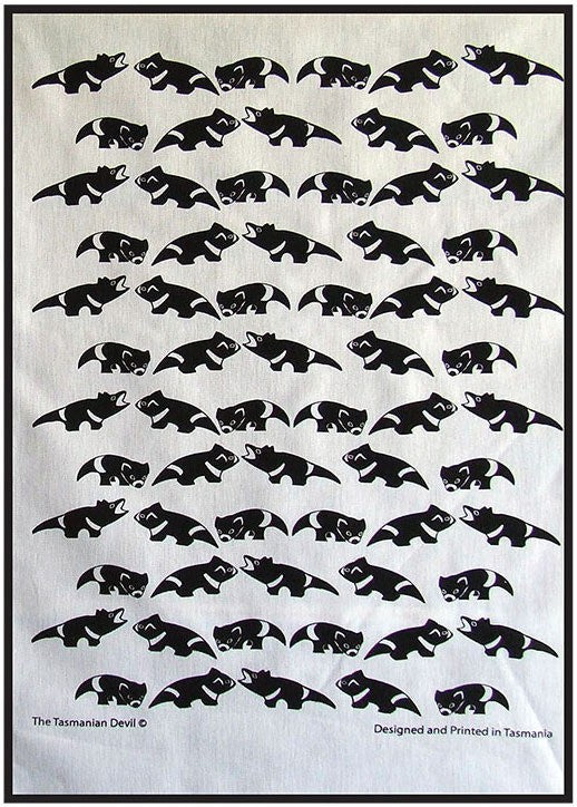 Tea Towel ~ Tassie Devil - Aspect Design Tasmanian Gifts Gallery