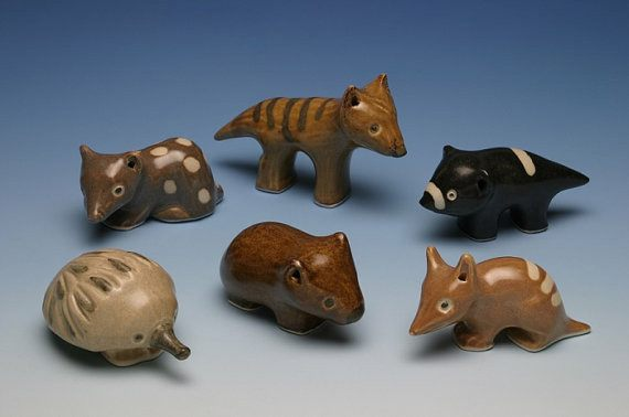 Ceramic Tassie Tiger - Aspect Design Tasmanian Gifts Gallery