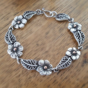 Lynda Salmon Collection II ~ Spring Flower Bracelet - Aspect Design Tasmanian Gifts Gallery