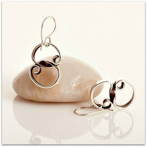 "Lynda Salmon ~ Short ""S"" Earrings - Aspect Design Tasmanian Gifts Gallery"