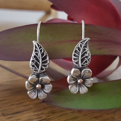 Lynda Salmon Earrings ~ Spring Flower - Aspect Design