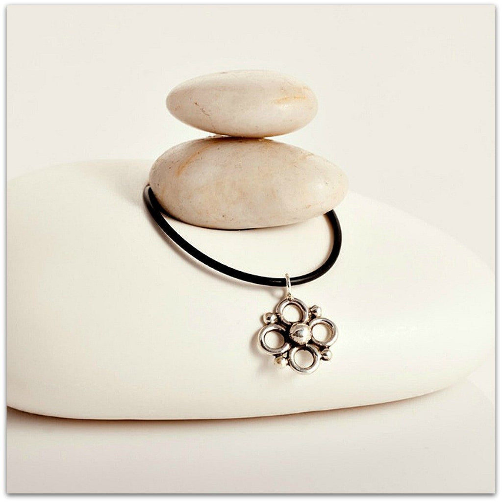 Lynda Salmon ~ Circle Flower Pendant - Aspect Design