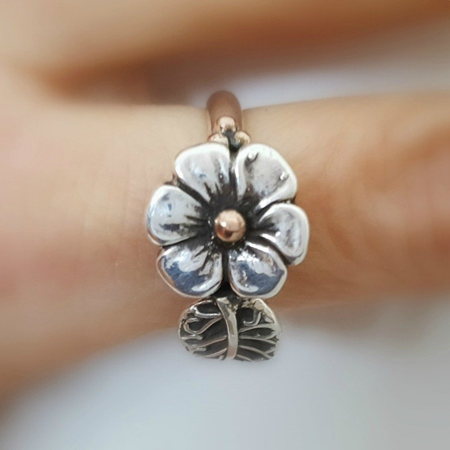 Lynda Salmon Ring ~ Spring Flower - Aspect Design