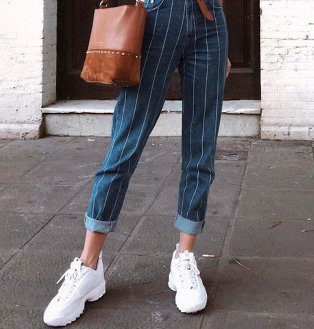 HAYLEE STRIPED JEAN PANT