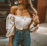 SARAH OFF SHOULDER CROP